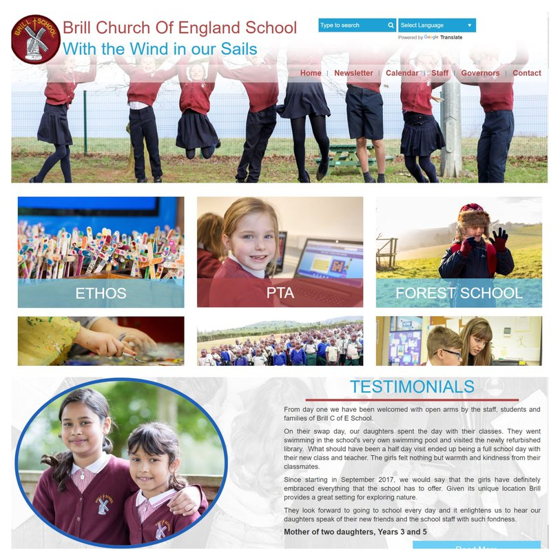 Brill Church of England School Website