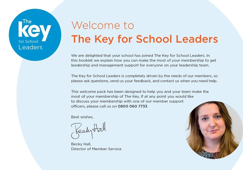 Welcome to The Key for School Leaders